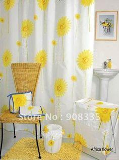 sunflower themed bathroom