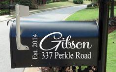 Personalized Monogram Custom Wedding Mailbox Decal