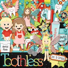 Toothless Digital Scrapbook Kit  Digital by JssScrapBoutique, $3.99