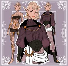 Character Creation, Fantasy Character Design, Character Design Inspiration, Character Concept, Character Art, Concept Art, Dnd Characters, Fantasy Characters, Female Characters