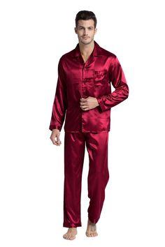 Men's Pajama Sets Yarn Weave 100% Cotton Pajama Set For Men Comfy Sleepwear Pajamas Mens Sexy Modern Style Soft Cozy Plus Size Nightgown Pyjamas