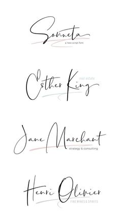 I like this font - Modern signature style script. Modern Script Font, Modern Fonts, Script Logo, Hand Script Font, Signature Fonts, Signature Style, Signature Ideas, Signature Design, Hand Drawn Fonts