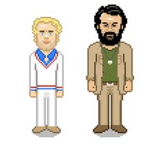 Bud Spencer and Terence Hill - Pixel Art made by 8bitstars