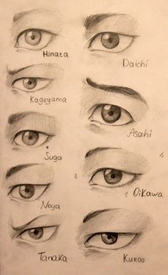Eye ref for different characters