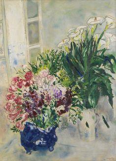 artexpert:  Les deux bouquets (1926) - Marc Chagall