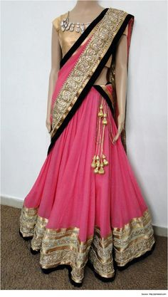 Best 28 Half Saree Designs for Weddings | Latest Half Sarees
