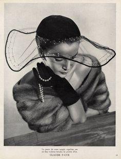 1951 - Hat by Claude Saint-Cyr - @Mlle