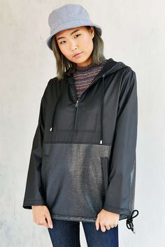 Silence + Noise Contrast Pullover Hooded Jacket #UrbanOutfitters