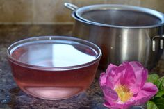 Use rose petals to make your own natural Rose Water. As a facial toner it soothes inflammation, tightens pores, and smells amazing #beauty