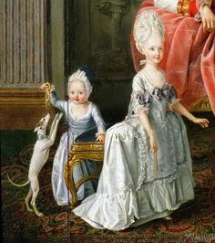 unknown - Erzherzog Leopold-s family detail 18th Century Clothing, 18th Century Fashion, Historical Costume, Historical Clothing, Rococo Fashion, Vintage Fashion, Maria Theresia, Moda Retro, Art Through The Ages
