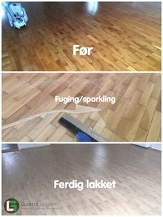 Parkettgulv som er slipt og lakket med hvitlakk Hardwood Floors, Flooring, Crafts, Wood Floor Tiles, Manualidades, Hardwood Floor, Wood Flooring, Handmade Crafts, Craft