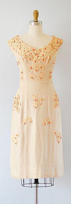 linen 50s dress