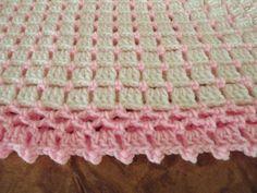 Handmade New Crochet Baby Blanket White Pink Afghan Shawl Baby Afghan Crochet, Baby Afghans, Crochet Blanket Patterns, Pink Baby Blanket, Baby Girl Blankets, Diy Crafts Crochet, Handmade Baby Blankets, Baby Knitting, Pink Sale