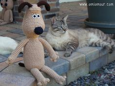 Stitch yourself a Gromit crochet doll. Pattern is easy to follow. You just need to watch out for the increases and decreases, especially in the head!