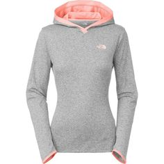 The North Face Reactor Hooded Shirt - Long-Sleeve ($40) ❤ liked on Polyvore featuring activewear, activewear tops, workout shirts, long sleeve workout shirts, the north face shirts, lightweight shirt and long sleeve shirts