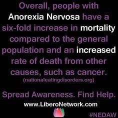 It's National Eating Disorders Awareness Week! LiberoNetwork.com/nedaw-2013 #NEDAW #NEDAW2013 #eatingdisorders #edrecovery
