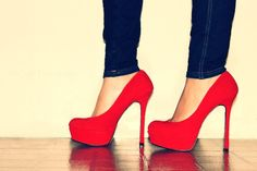 #red #pumps