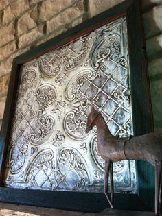 "Decorative Tin Backsplash Tiles Magnificent Pottery Barn Vintage Tin Tiles Knock Off Decor ~  Our ""homestead Design Ideas"