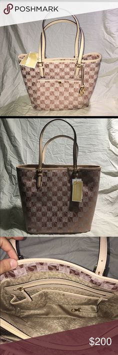 NWT MICHAEL KORS ROSE GOLD New Michael Kors | ROSE GOLD | Tags Attached | Large Purse | lots of room | front of purse has card area | inside has 1 large zipper on middle | 2 small & 2 large pockets - 1 side zipper pocket Michael Kors Bags Shoulder Bags