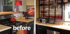 30 Low-Cost Cabinet Makeovers: Save Money by Painting Your Old, Ugly Kitchen Cab… - cheap kitchen cabinets Ugly Kitchen, Kitchen Cabinets Decor, Cabinet Decor, Cabinet Makeover, Kitchen Tips, Kitchen Ideas, Bathroom Cabinets, Kitchen Storage, Paint Bathroom