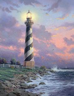 paintings of lighthouses by thomas kinkade