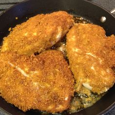 Gluten free fried chicken.. Gluten free flour seasoned with garlic, salt and pepper, then egg and milk, cover with crushed up gluten free corn chex. Yum!!