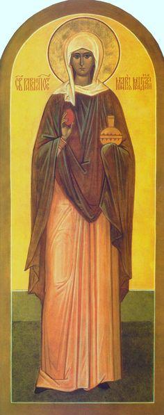 Full of Grace and Truth: St. Mary Magdalene the Myrrh-bearer and Equal-to-the-Apostles Religious Icons, Religious Art, Santa Maria, Maria Magdalena, St Clare's, Byzantine Icons, Sacred Feminine, John The Baptist, Catholic Saints