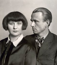 The Painter Otto Dix and His Wife, Martha, 1925/26. Photographed by August Sander. Gelatin silver print on paper.
