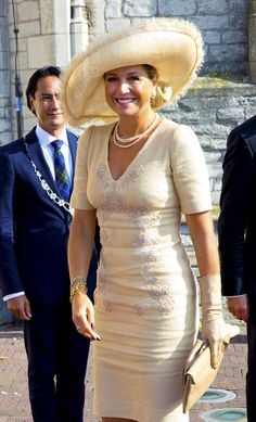 royalwatcher: Queen Maxima attended the opening of the new Center for Teaching Excellence at University College Roosevelt, Middleburg, Zeeland, September 3, 2014.