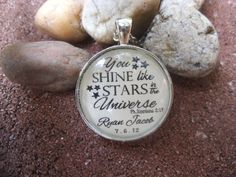 You Shine Like Stars in the Universe Philippians 2:15 Personalized Bible Verse Necklace Charm Pendant Necklace by SweetBirdieBlessings on Etsy