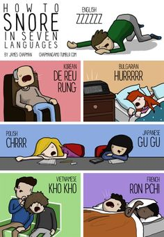 how to snore in seven languages