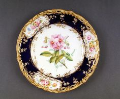 Painted  probably by Stephen Lawrance,Coalport Porcelain (Shropshire, England) — Plate, c.1839-1845 (668x550)