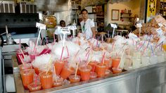 Juice stands are popular across Israel. The fresh juice offers a delicious relief from the subtropical heat.