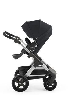 Stokke Trailz with Stokke Stroller Seat Black. Can be used with a car seat (sold separately) as part of an infant ravel system