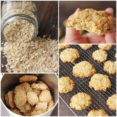 Galletas de avena. Receta de galletas de avena paso a paso Sweet Recipes, Dog Food Recipes, Cookie Recipes, Dessert Recipes, Healthy Desserts, Delicious Desserts, Yummy Food, Healthy Recipes, Cookies
