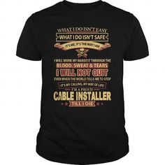 CABLE-INSTALLER - #checked shirt #tshirt text.  CABLE-INSTALLER, off the shoulder sweatshirt,couple sweatshirt. CHEAP PRICE =>...