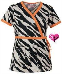 Koi Scrubs Wildside Black Print Top Style #  K115WSB $20.99