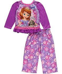 cc95f2666c Amazon.com  Sofia the First Girls Purple Pajamas (4)  Clothing