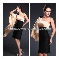 Elegant Fashion Design One Shoulder Tea Length Mother Of The Bride Dresses Plus Size
