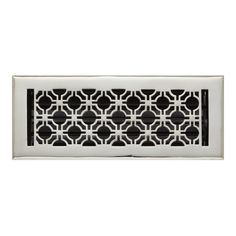 Geometric Solid Brass Floor Register - Registers - Hardware