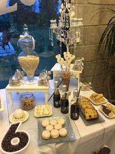 Dessert table at a New Year's party! See more party ideas at CatchMyParty.com!