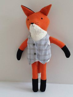 Stuffed Fox Plushie Fox Woodland Red Fox Doll named Joshua