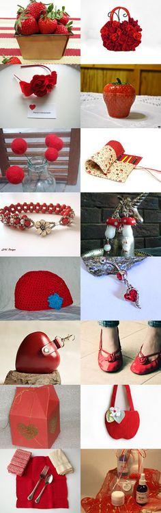 Strawberry Love by Shoshi Nahmany on Etsy--Pinned with TreasuryPin.com