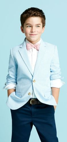 Cute boys sport coat and bow tie #DYT #Type1 #Kids