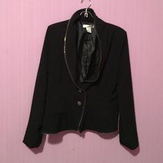 Blazer size 8 Gently use with zipper  decoration all around WD.NY Jackets & Coats Blazers