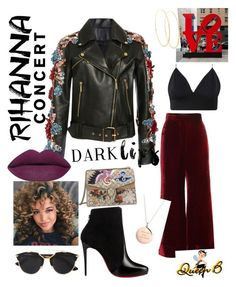"""""""Rihanna Concert"""" by glam-fab-bee-heelz on Polyvore featuring E L L E R Y, Elie Saab, Christian Louboutin, Gucci, Christian Dior, Lana and Kate Spade"""