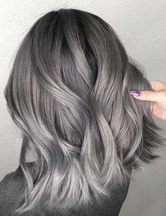 If you would like to make your blue ombre hair pop, you need to always try to remember that braids are the very best. In conclusion, blue ombre hair Grey Brown Hair, Grey Hair Wig, Silver Grey Hair, Purple Hair, Ash Hair, Black To Grey Ombre Hair, Silver Wigs, Pastel Hair, White Hair