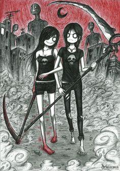 Scythe girls by DemiseMAN.deviantart.com on @deviantART