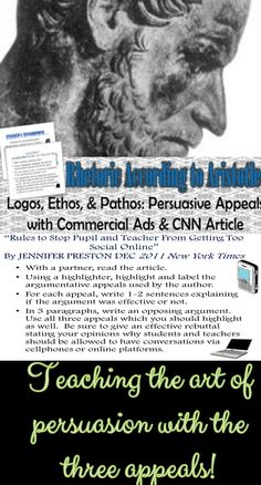Discuss three appeals to ethos in this essay