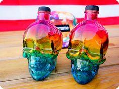 MOSHITA — colored skull bottles